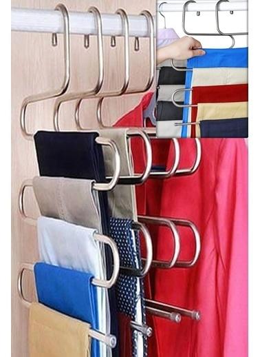 Bayev Bayev 5 Adet 5 Katlı Metal Pantolon Eşarp Askısı Renkli